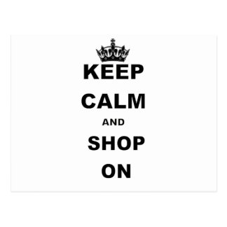 KEEP CALM AND SHOP ON.png Postcard