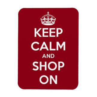 Keep Calm and Shop On Premium Flexi Magnet