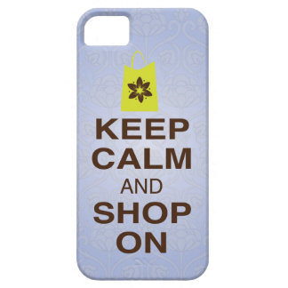 KEEP CALM and SHOP ON Purple, Lime iPhone5 Case