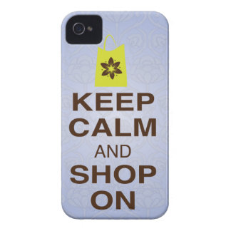 KEEP CALM and SHOP ON Purple, Lime iPhone 4/4s iPhone 4 Cover
