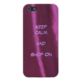 Keep Calm and Shop On-Purple Velvet iphone case