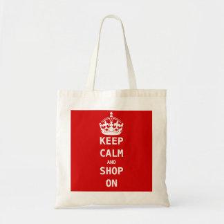 KEEP CALM AND SHOP ON TOTE BAG