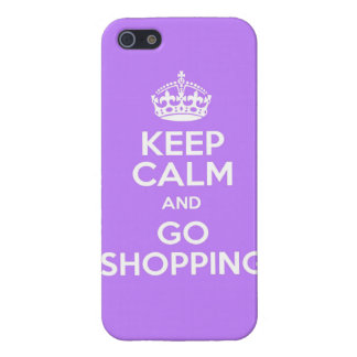 Keep calm and  shopping funny mall money spend spe iPhone 5 cover