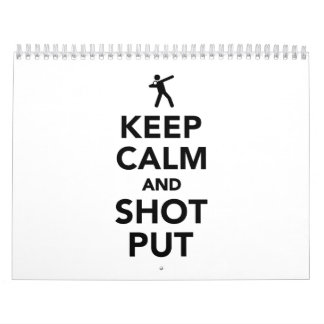 Keep calm and shot put calendar