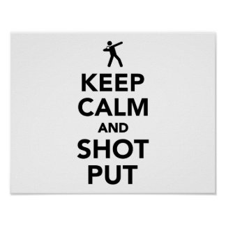 Keep calm and shot put poster