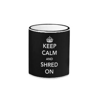 Keep Calm and Shred On Coffee Mug
