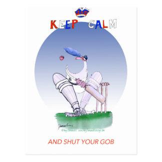 keep calm and shut your gob, tony fernandes postcard