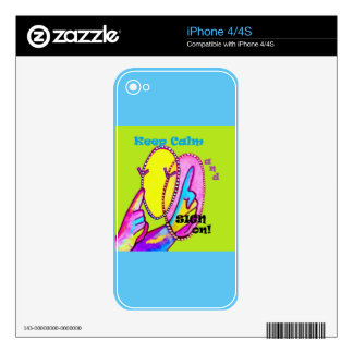 Keep Calm and Sign On! Skin For iPhone 4S