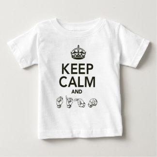 Keep Calm And Sign Tee Shirts