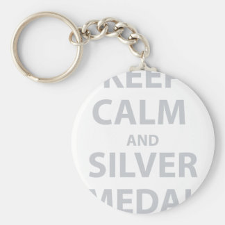 Keep Calm and Silver Medal Keychains