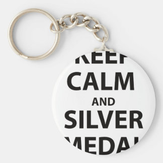 Keep Calm and Silver Medal Key Chain