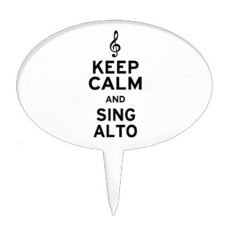Keep Calm and Sing Alto Cake Pick