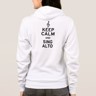 Keep Calm and Sing Alto Hoodie