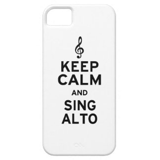 Keep Calm and Sing Alto iPhone SE/5/5s Case