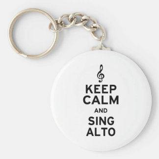 Keep Calm and Sing Alto Keychain