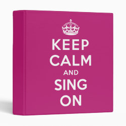 Avery Signature 1' Binder with Keep Calm and Sing On design