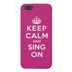 Case Savvy iPhone 5 Matte Finish Case with Keep Calm and Sing On design
