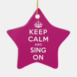 Star Ornament with Keep Calm and Sing On design