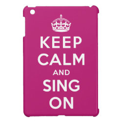 Case Savvy iPad Mini Glossy Finish Case with Keep Calm and Sing On design