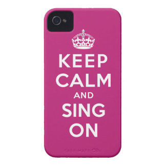 Keep Calm and Sing On iPhone 4 Case