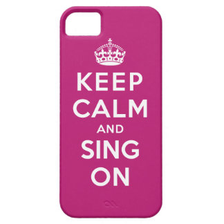 Keep Calm and Sing On iPhone SE/5/5s Case