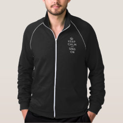 Men's American Apparel California Fleece Track Jacket with Keep Calm and Sing On design