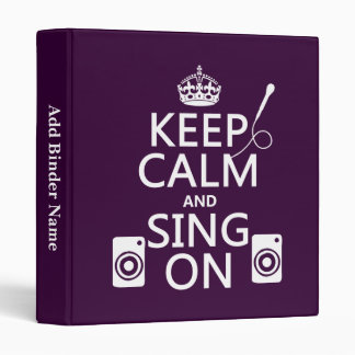Keep Calm and Sing On (Karaoke) Binder