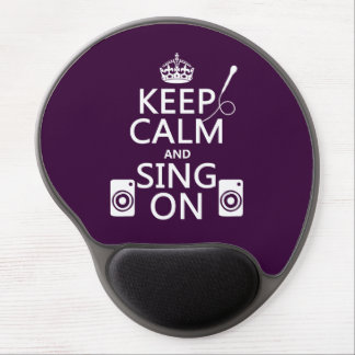 Keep Calm and Sing On (Karaoke) Gel Mouse Pad