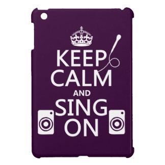 Keep Calm and Sing On (Karaoke) iPad Mini Cover