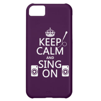 Keep Calm and Sing On (Karaoke) iPhone 5C Cover