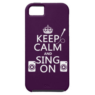 Keep Calm and Sing On (Karaoke) iPhone SE/5/5s Case