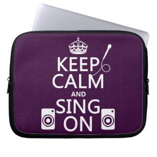 Keep Calm and Sing On (Karaoke) Computer Sleeve
