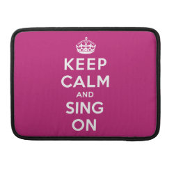 Macbook Pro 13' Flap Sleeve with Keep Calm and Sing On design
