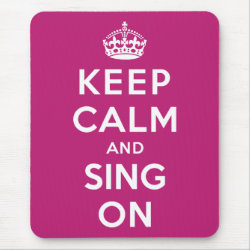 Mousepad with Keep Calm and Sing On design