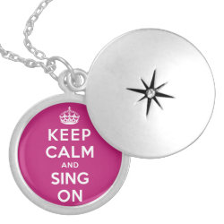 Medium Necklace with Keep Calm and Sing On design