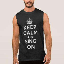 Men's Ultra Cotton Sleeveless T-Shirt with Keep Calm and Sing On design