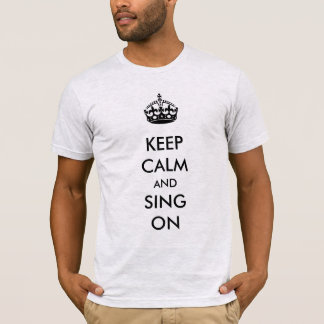 Keep Calm and Sing on White Kraft Paper T-Shirt