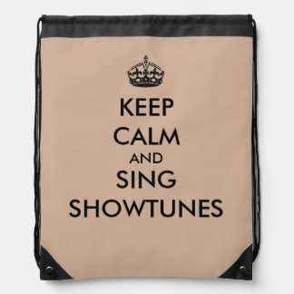 Keep Calm and Sing Showtunes Drawstring Bag