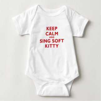 Keep Calm and Sing Soft Kitty Baby Bodysuit