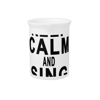KEEP CALM AND SING SOFT KITTY.png Drink Pitcher