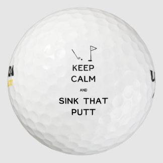 Keep Calm and Sink That Putt Golf Balls