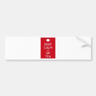 Keep Calm and Sip Tea - Teapot Bumper Sticker