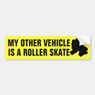 Keep Calm and Skate On Bumper Sticker