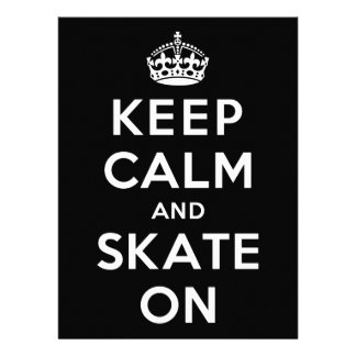 Keep Calm and Skate On Personalized Announcement
