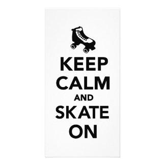 Keep calm and Skate on Photo Cards
