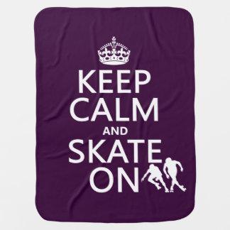 Keep Calm and Skate On (rollerskaters) Baby Blanket