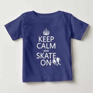 Keep Calm and Skate On (rollerskaters) Baby T-Shirt
