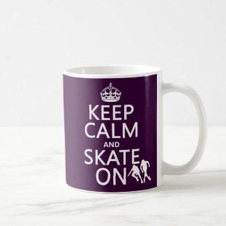 Keep Calm and Skate On (rollerskaters) Coffee Mug