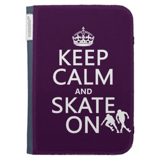 Keep Calm and Skate On (rollerskates) (any color) Kindle Keyboard Case