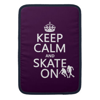 Keep Calm and Skate On (rollerskates) (any color) Sleeves For MacBook Air